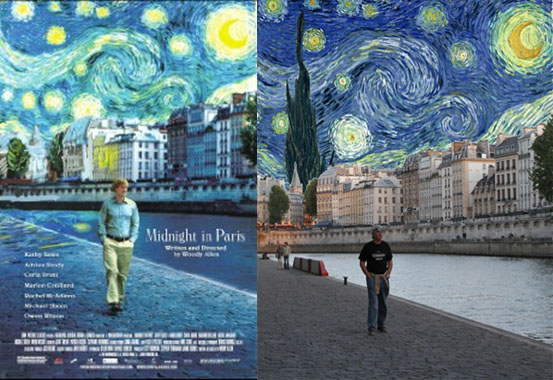Midnight in Paris matched